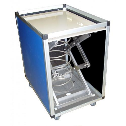 Chariot à fond mobile, qualité alimentaire, en Beeplast, Réf 302943