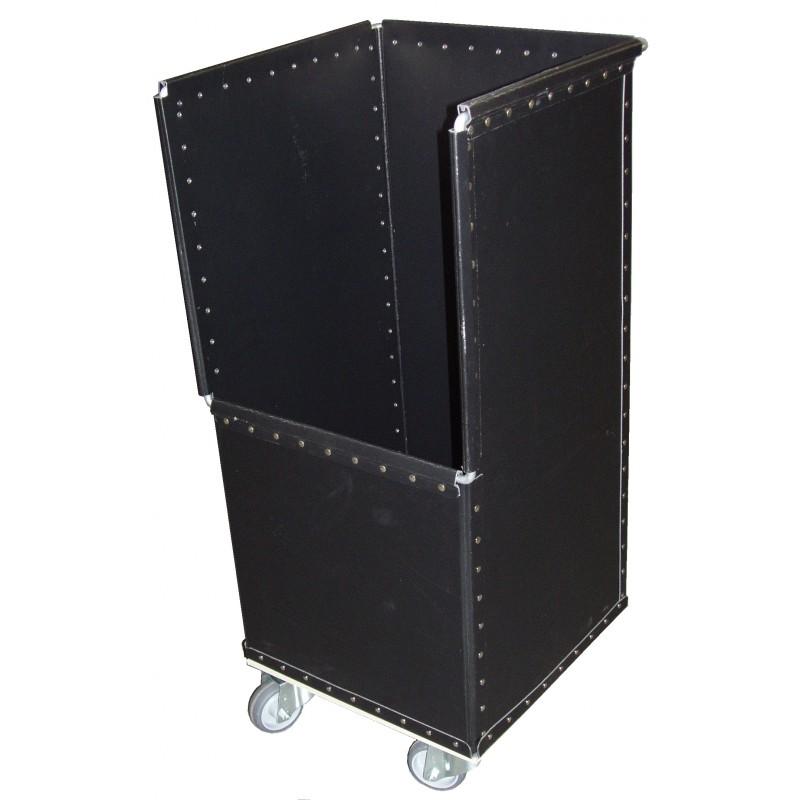 Bac de stockage sur roues, en fibre noire, Réf 303256