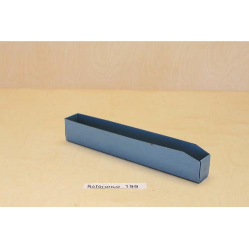 Bac à bec antistatique pour réglettes en carton blindé bleu