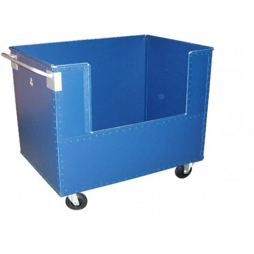 Chariot conteneur avec ouverture latérale