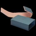 Boite fourreau en CARTON BLINDE bleu - Mousse Antistatique rose souple de 10 mm
