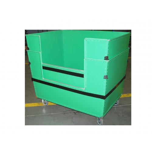 Chariot conteneur avec ouverture latérale et emboitable