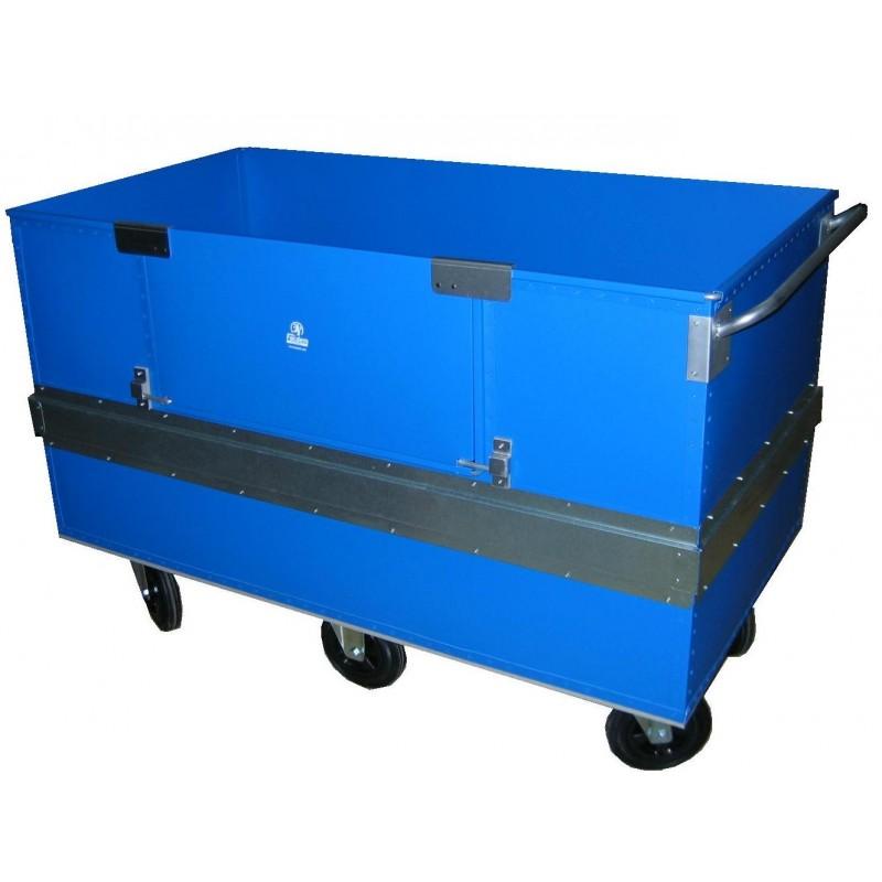 Chariot conteneur renforcé avec porte latérale